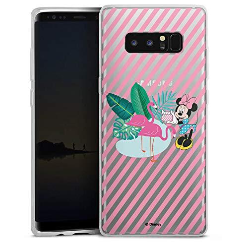 DeinDesign Slim Hülle extra dünn kompatibel mit Samsung Galaxy Note 8 Duos Silikon Handyhülle transparent Hülle Disney Offizielles Lizenzprodukt Mickey und Minnie Mouse