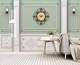 Fototapete 3D Effekt Leichte Luxusuhren Mit Geprägten Weißen Linien Moderne Wandtapete Wohnzimmer Dekoration Tapete