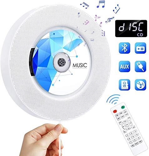 classement un comparer Lecteur CD portable Gueray Lecteur CD Haut-parleur HiFi Radio FM avec haut-parleur Bluetooth intégré au mur…
