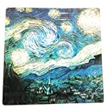 Udc PEC As de Corazón – Salvamanteles de cristal (20 x 20 cm) – Noche Estrella de Van Gogh.