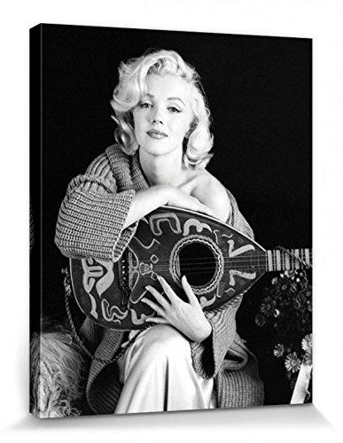 1art1 Marilyn Monroe - Lute Bilder Leinwand-Bild Auf Keilrahmen | XXL-Wandbild Poster Kunstdruck Als Leinwandbild 50 x 40 cm