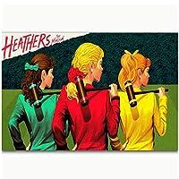 Dubdubd ヘザーズミュージカルクラシックTvシリーズショーアートポスターキャンバス絵画リビングルーム室内装飾ギフト-60X90Cmフレームなし1個