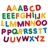 Constructive Playthings Giant Magnetic Uppercase Letters, Large Educational Magnets for Kids, BKM-302