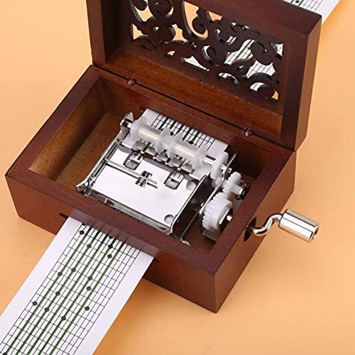 Socobeta Caja de música vintage caja de música manivela mini caja de música para niños