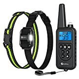 Slopehill Dog Training Collar, Small Size Shock Collar for Small to Large Dogs 5-140lbs, Waterproof and Rechargeable Electric Dog Collar with 2600Ft Remote, Vibration, Beep Shock Modes, Adjustable