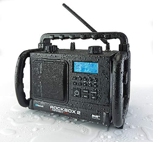 Perfectpro Rockbox 2 Baustellenradio DAB+, UKW AUX, Bluetooth® spritzwassergeschützt, staubdicht,
