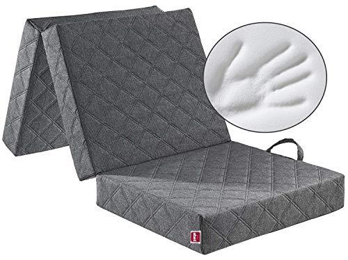 ABEIL Chauffeuse/matelas d'appoint de gris avec housse