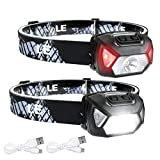 LE LED Headlamp, Super Bright Rechargeable Head Lamp with white & Red Light