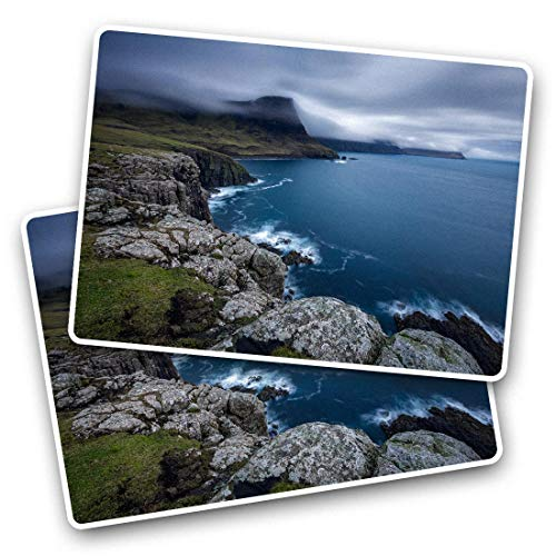 Awesome Rectangle Stickers(Set of 2) 7.5cm - Glendale Isle of Skye Scotland Fun Decals for Laptops,Tablets,Luggage,Scrap Booking,Fridges,Cool Gift #45164