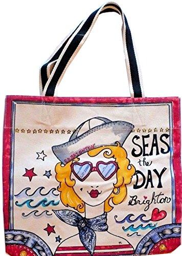 Brighton Printed Summer Vivid Canvas Tote Bag