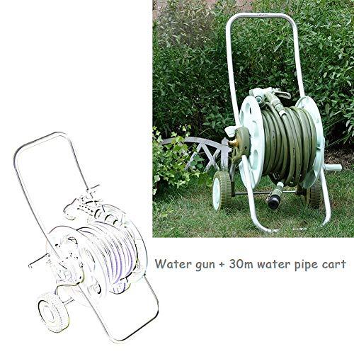 Soporte portátil para manguera de agua de jardín, carrito de riego de coche, camión, carrito de agua