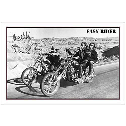 LIUXR Easy Rider Classic Film Signatur Poster Kunstdrucke Leinwand Malerei Leinwanddrucke Wandkunst Bilder für Wohnkultur -50x75cm Kein Rahmen