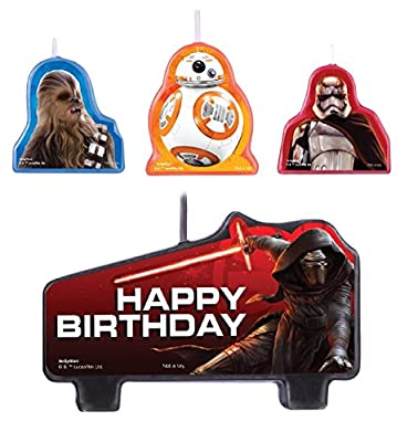 Amscan Star Wars Episode Vll Birthday Candle