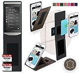 reboon Hülle für BlackBerry Porsche Design P9982 Tasche Cover Case Bumper | Braun Wildleder | Testsieger