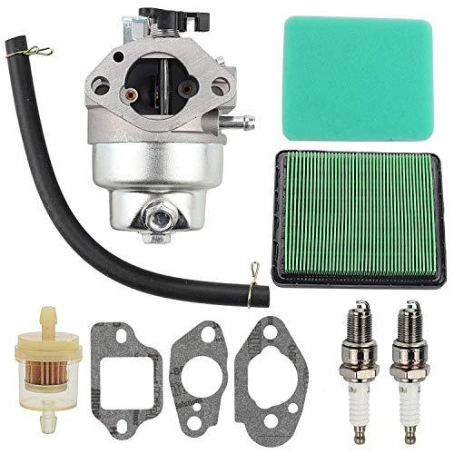 Wellsking GCV 160 Carburetor Carb for Honda GCV160 GCV160A GCV160LE GCV160lao Carb Engine HRB216 HRR216 HRS216 HRT216 HRZ216 Lawn Mower Rep 16100-Z0L-023 with Air Filter