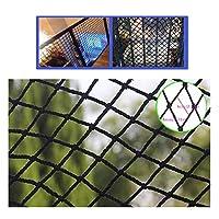 安全ネット 多目的な用途のネット 階段ネット ベランダ 防護ネット 子供 転落防止網 防獣 防鳥 網 BHHブラックカーゴネットペット保護ネッティングキッズチャイルドセーフティネットクライミングカーゴロープバルコニー階段アンチフォールネットビルディングレール遊び場屋内屋外6mmロープ8cmメッシュ穴 フェンス 手すり ネット 園芸用ネット 高所 防犯 防獣、窓部、屋内など怪我防止 危険防止 簡単設