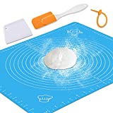 Silicone Baking Mat with Measurements – Heat Resistant, BPA Free, Non-Stick Pastry Mat for Rolling...