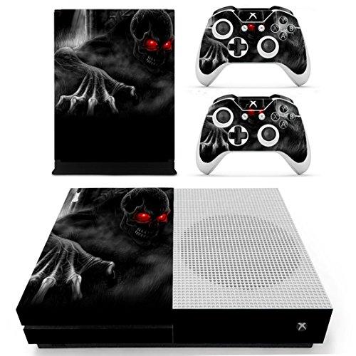 DOTBUY Vinile modello skin sticker decalcomanie della pelle per Xbox One S Console & Wireless Controller (Red Eye Skull)