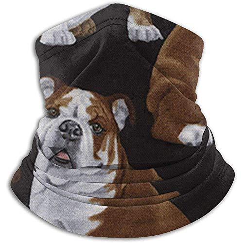 Archiba Écharpe de Cou Bulldogs Anglais Fleece Neck Guêtre Hiver Warmer Head Wrap