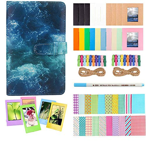 Anter Photo Album Accesorios Compatible con Fujifilm Instax Mini Camera, HP Sprocket, Polaroid Zip, Snap, Snap Touch Impresora Films con Film Stickers, Album & Frame