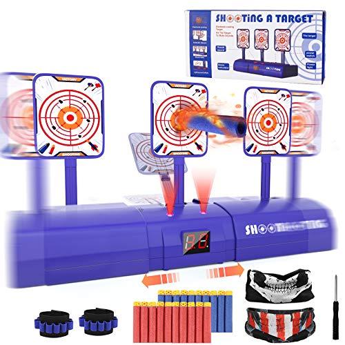 Electronic Shooting Target for Nerf Gun, Kids Shooting Target Practice Boys Girls Scoring Auto Reset...