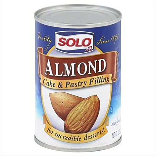 Solo Cake & Pastry Filling Almond 12.5 OZ (Pack of 4)