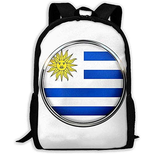 Bolsa para Portátil,Mochila Escolar De Moda,Bolsa De Viaje,Uruguay Casual Mochila para Portátil,Mochilas Escolares Ajustables,Mochila para Estudiantes Universitarios