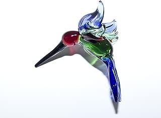 Hummingbird Lampwork Glass Ornament - Made in USA-Sapphire Blue Jewel
