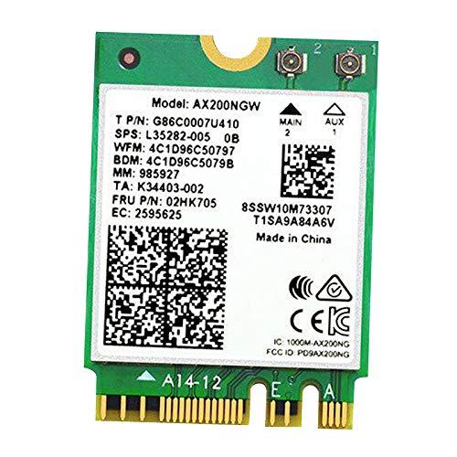 MERIGLARE Adaptador de Tarjeta Inalámbrica NGFF M.2 AX200 6 Card Bluetooth 5.0 Desktop