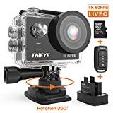 Camera Sport ThiEYE T5 Pro Diffusion en Direct 4K 60fps WiFi 20MP 360°Rotation...