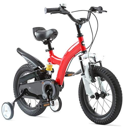 LHAHGLY Bicicleta para niños, 12 14 16 18 Pulgadas con Ruedas de Entrenamiento / niñas de niños de 3 a 9 años de Edad, y roja. ( Color : Red , Size : 40cm/15.7in )