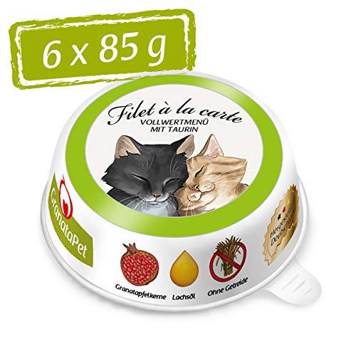 GranataPet Filet à la Carte Hühnchen PUR, Nassfutter für Katzen, Filet-Stückchen ohne Getreide, Katzenfutter ohne Zuckerzusatz, hoher Fleischanteil, 6 x 85 g