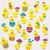 Adesivi in Feltro Pulcino di Pasqua Baker Ross (confezione da 100)- Adesivi piccoli per progetti artistici e artigianali per bambini