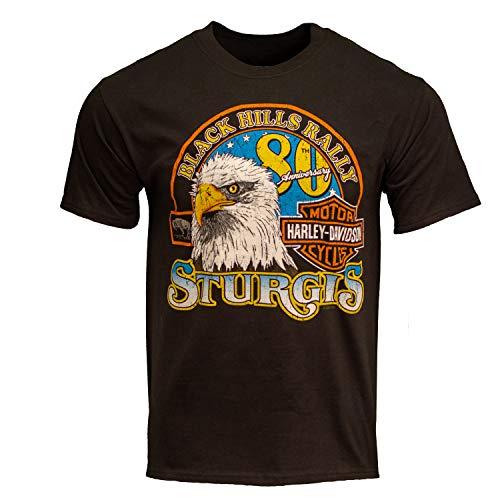 Harley-Davidson 2020 Sturgis Men's Genuine 80th Rally Black T-Shirt (Large)