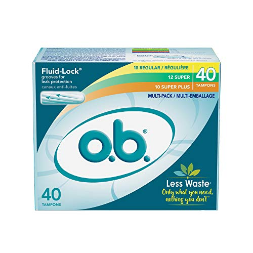 ob Original NonApplicator Tampons Regular Super amp Super Plus Absorbancies Multi Pack of 40 Tampons