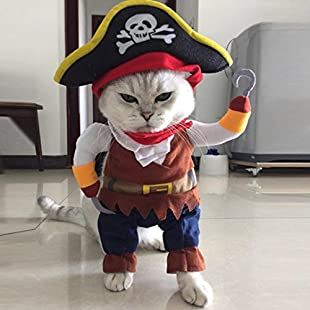 Oyedens Funny Pet Clothes Pirate Dog Cat Costume Suit Corsair Dressing up Party Apparel Clothing (S):Hdmoviedownload