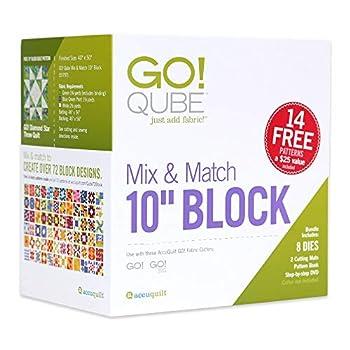 AccuQuilt GO! Fabric Cutting Dies  GO! Qube Mix & Match 10  Block