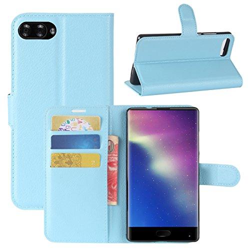 HualuBro Doogee Mix Hülle, [All Aro& Schutz] Premium PU Leder Leather Wallet Handy Tasche Schutzhülle Hülle Flip Cover mit Karten Slot für DOOGEE Mix 5.5 Inch 4G Smartphone (Blau)
