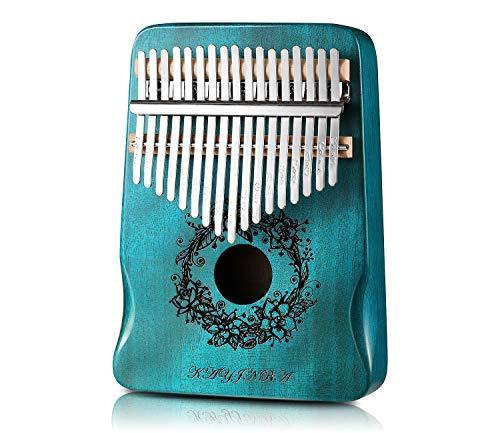Meshela Kalimba Thumb Piano Kalimba 17 Key Instruments Mini Piano Musical Gifts for Kids Adult Beginners Professional