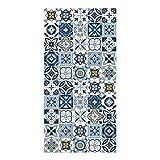 DON LETRA Alfombra Vinílica Baldosa, 100 x 50 x 0.2 cm, Color Azul, Vinilo, ALV-075