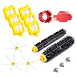 Neutop Upgraded Replacement Parts Accessories Kit for iRobot Roomba 700 Series 760 761 770 780 790 Robot Vacuum with Flexible Beater and Bristle Brush Hepa Filter Side Brush Cleaning Tool.