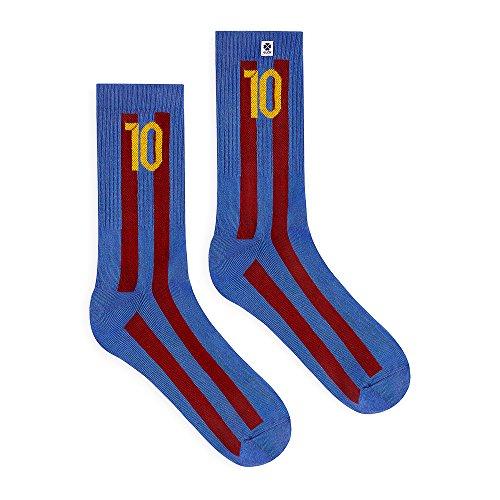 4LCK Colorful socks (Fuoco, Fiamma calzini) (Tifoso di calcio - Barcellona, EU: 35-38)