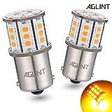 AGLINT 1156 BA15S P21W LED Ampoules 33SMD Auto Voiture RV Feux de Jours Clignotants Lampe de Feu de Recul Ámbar 12V 24V