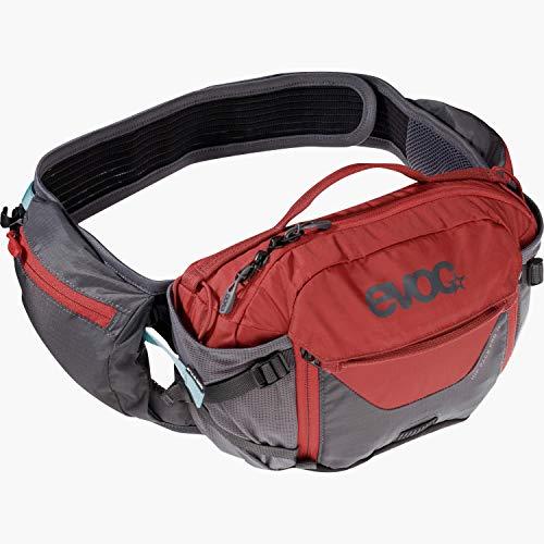 evoc Unisex Hip Pack Pro 3l H fttasche, Chili Rot Carbon Grau,Einheitsgröße EU