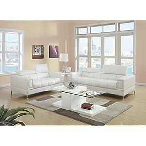 Major-Q Bonded Leather 2-Pcs Sofa Set 8
