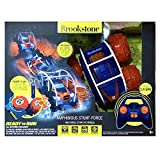 Brookstone Amphibious Remote Control Car – Stunt Force All-Terrain High Speed Waterproof RC Car 4x4 AWD 2.4GHz w Rechargeable Battery for Boys/Girls
