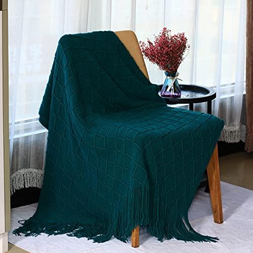 ZGSWB Kuscheldecke dunkelgrün, Flauschig Und PlüSch Fleecedecke Als Sofadecke Couchdecke Wohndecke,Weiche& Warme SofaüBerwurf Decke 127x230 cm (08)