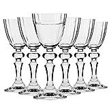 Krosno Bicchieri Calice Vodka Limoncello Vetro | Set di 6 | 40 ML / 4 CL | Collezione Illumination | Ideale per la Casa Ristorante Feste Ricevimenti | Adatto alla Lavastoviglie