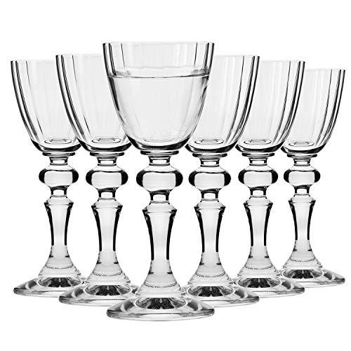 Krosno Schnapsgläser Shotgläser Wodkagläser mit Stamm | Set von 6 | 4 CL / 40 ML | Illumination Kollektion | Perfekt für zu Hause, Restaurants und Partys | Spülmaschinenfest