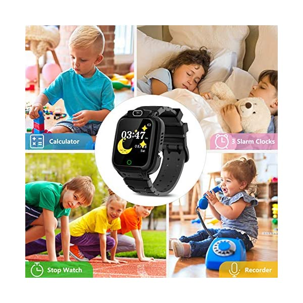 CMKJ Kids Smartwatch with 7 Games, Waterproof Smart Watch for Children with MP3 & Video Player, Touchscreen Gaming Smart Watch Gift for 2-13 Years Old Girls and Boys, with 2GB Memory Card